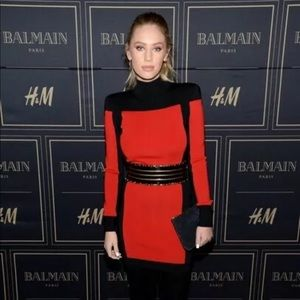 Balmain x HxM Black & Red Dress